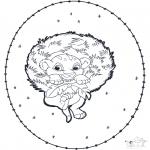 Sy-kort - Simba stitchingcard