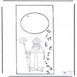 Prik-kort - Sint deurhanger