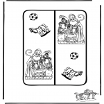 Prik-kort - Sinterklaas boekenlegger