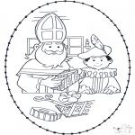 Sy-kort - Sinterklaas borduurkaart 1