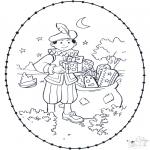 Sy-kort - Sinterklaas borduurkaart 2
