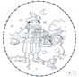 Sinterklaas borduurkaart 2