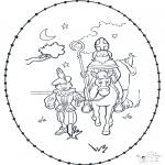 Sy-kort - Sinterklaas borduurkaart 3