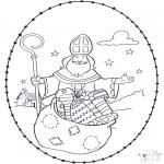 Sy-kort - Sinterklaas borduurkaart 4