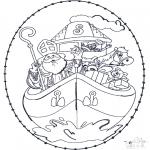 Sy-kort - Sinterklaas Borduurkaart