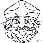 Prik-kort - Sinterklaas masker