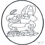 Prik-kort - Sinterklaas Prikkaart 6