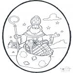 Prik-kort - Sinterklaas prikplaat 1