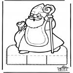 Prik-kort - Sinterklaas Prikplaat 10