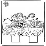 Prik-kort - Sinterklaas Prikplaat 11