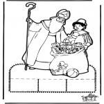 Prik-kort - Sinterklaas Prikplaat 13