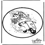 Prik-kort - Sinterklaas Prikplaat 16