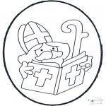 Prik-kort - Sinterklaas Prikplaat 2