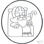 Prik-kort - Sinterklaas Prikplaat 4