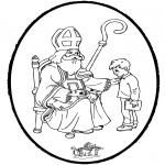 Prik-kort - Sinterklaas Prikplaat 7