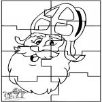Prik-kort - Sinterklaas Puzzel