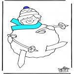 Vinter-malesider - Skiën 3