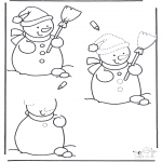 Håndarbejde - Sneeuwpop tekenen