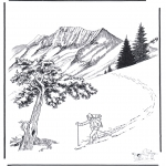Vinter-malesider - Snow in Yellowstone 2