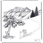Vinter-malesider - Snow in Yellowstone 2