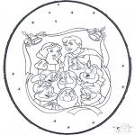 Prik-kort - Snow white prickingcard