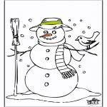 Vinter-malesider - Snowman 2