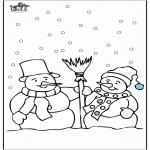 Vinter-malesider - Snowman 4