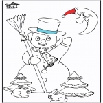 Vinter-malesider - Snowman 5