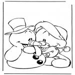 Sjove figurer - Snowman and bear