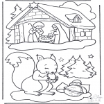 Jule-malesider - Squirrel and manger