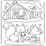 Vinter-malesider - Squirrel in the snow