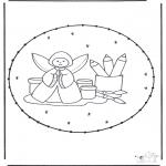 Sy-kort - Stitchingcard angel