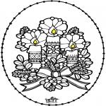 Jule-malesider - Stitchingcard - Candle