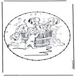 Sy-kort - Stitchingcard cartoon 8