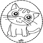 Sy-kort - Stitchingcard cat