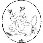 Sy-kort - Stitchingcard Cinderella