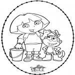 Sy-kort - Stitchingcard Dora