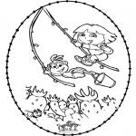 Sy-kort - Stitchingcard - Dora