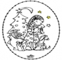 Stitchingcard Girl and Christmastree