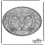 Sy-kort - Stitchingcard lion