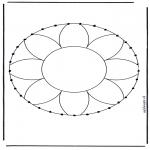 Sy-kort - Stitchingcard mandala 1