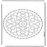 Sy-kort - Stitchingcard mandala 2