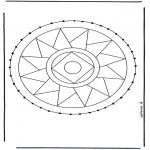 Sy-kort - Stitchingcard mandala 3