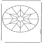Sy-kort - Stitchingcard mandala 5