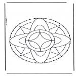 Sy-kort - Stitchingcard mandala 7