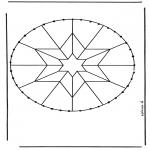 Sy-kort - Stitchingcard mandala 8