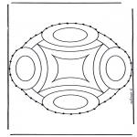 Sy-kort - Stitchingcard mandala 9