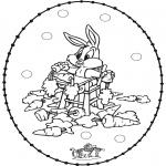 Sy-kort - Stitchingcard rabbit