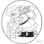 Sy-kort - Stitchingcard santa