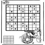 Håndarbejde - Sudoku bird